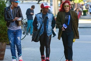 Patricia Field Missy Elliott and Patricia Field Out in NYC