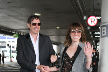 Paul Anderson Milla Jovovich and Paul Anderson Are Seen at LAX