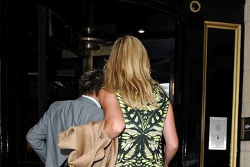 Penny Lancaster Rod Steward Arrives at His London Hotel