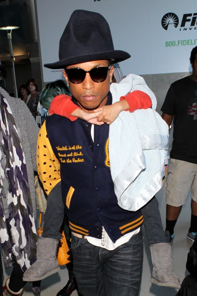 Pharrell Williams and His Son at LAX - Zimbio