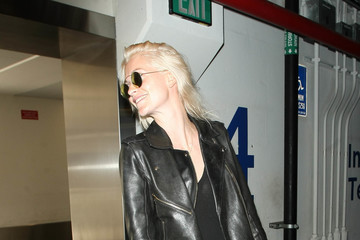 Poppy Delevingne Poppy Delevingne Arrives at LAX