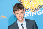 Harry Treadaway is seen arriving for the Premiere of Amazon Studios And STX Films' 'Gringo' held at Regal LA Live Stadium 14 in Los Angeles, California.