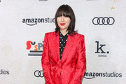 Karen O is seen arriving at the Premiere of Amazon Studios' 'Suspiria' at ArcLight Cinerama Dome in Los Angeles, California.