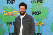 DeRay Davis is seen arriving at the premiere of FX's 'Snowfall' Season 2 at the Regal Cinemas L.A. LIVE Stadium 14 in Los Angeles, California.