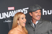 Annie Wersching and Julian McMahon are seen attending the premiere of Hulu's 'Marvel's Runaways' at The Regency Bruin Theatre in Los Angeles, California.