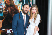 Chris Pontius and Eleanor Worthington-Cox are seen attending the premiere of Paramount Pictures' 'Action Point' at ArcLight Hollywood in Los Angeles, California.