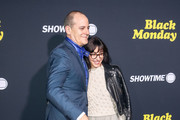 David Nevins and Andrea Blaugrund Nevins are seen arriving at the premiere of Showtime's 'Black Monday' at The Theatre at Ace Hotel in Los Angeles, California.