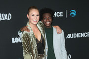 Natalie Sharp and Tim Johnson Jr are seen arriving at the Los Angeles premiere of AT&T Audience Network's 'Loudermilk' and 'Hit The Road' held at ArcLight Cinemas in Los Angeles, California.