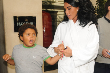 Harvey Price Katie Price in a White Terry Cloth Bathrobe