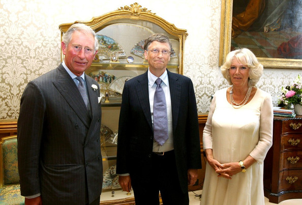 Bill Gates with Prince Charles and Camilla at Windsor Castle ...