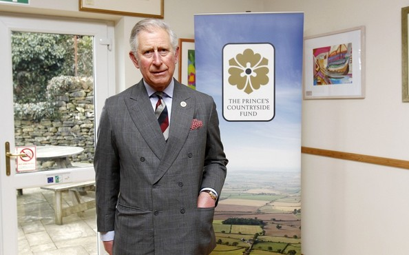 28th March, 2013:  The Prince of Wales during a visit to the Land Rover Experience driver training programme at Kitridding Farm, Lupton, Cumbria, where he announced the opening of the Land Rover Countryside Bursary Fund.