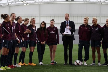 Prince William Prince William Visits England Ladies World Cup Squad