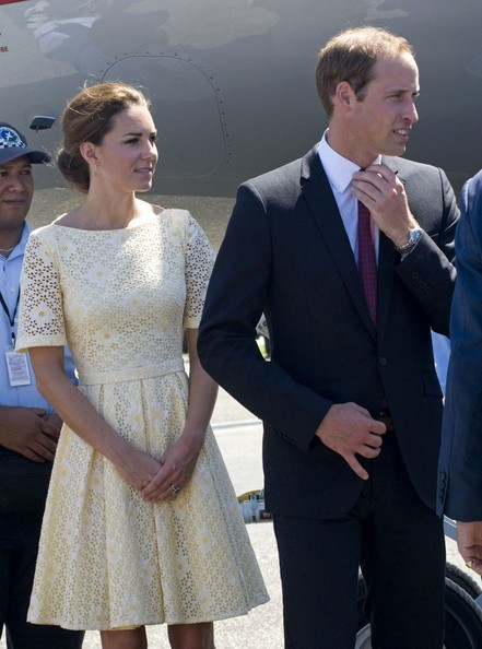 Príncipe William - Kate Middleton Partida de Tuvalu