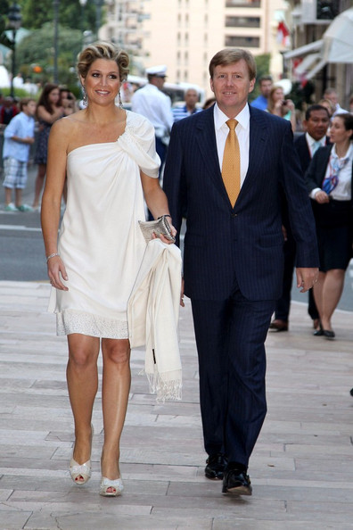 Princess Maxima European royals and guests arrive for the Jean-Michel Jarre concert at Port Hercule in celebration of the royal wedding of Prince Albert II of Monaco and Charlene Wittstock.