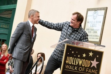 Quentin Tarantino Christoph Waltz Honored on the Walk of Fame