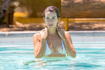 Rachel Mccord Rachel McCord Goes Swimming at Coachella