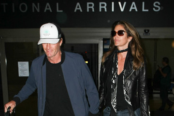 Rande Gerber Cindy Crawford Touches Down at LAX