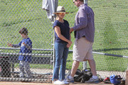 Reese Witherspoon Watches Her Son Play Baseball
