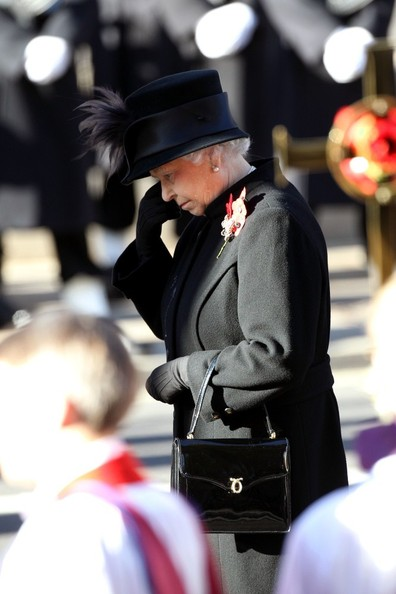 11th November, 2012:  The Remembrance service at The Cenotaph in London today. Among those attending, The Queen who laid a wreath.