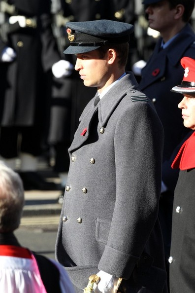 11th November, 2012:  The Remembrance service at The Cenotaph in London today. Among those attending, Prince William, The Duke of Cambridge who laid a wreath.