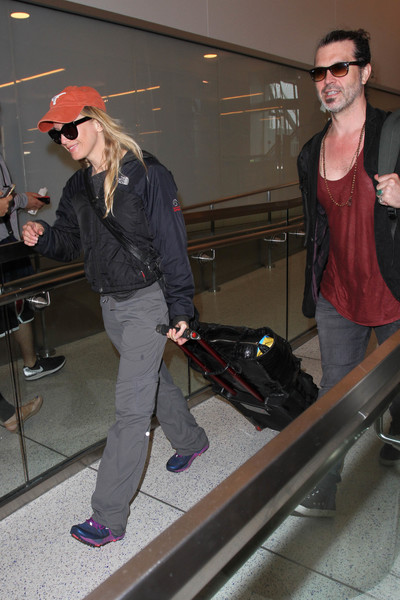 Renee Zellweger and Doyle Bramhall Spotted at LAX