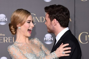 Richard Madden Lily James 'Cinderella' Premieres in Hollywood