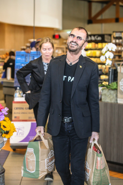 Ringo Starr Goes Shopping with His Wife
