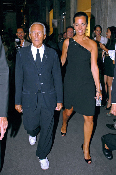 Giorgio Armani with beautiful, Wife Roberta Armani