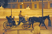Rolling Stone guitarist Ronnie Wood and girlfriend Ekaterina Ivanova spend their days indoors at the Hotel Hassler. By night, they take a horse-drawn carriage to restaurant Casina Valadier and look truly in love as they kiss.