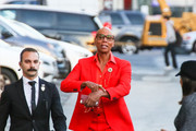 RuPaul is seen arriving at 'Jimmy Kimmel Live' in Los Angeles, California on Dec. 3, 2018.