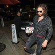Russell Brand Russell Brand Is Seen Outside Craig's Restaurant in West Hollywood