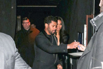 Russell Wilson Russell Wilson and Ciara outside Avalon Nightclub in Hollywood