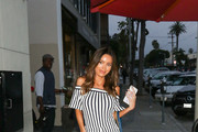 Sarah Stage Outside Craig's Restaurant In West Hollywood