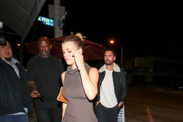 Scott Disick Sofia Richie Outside Craig's Restaurant In West Hollywood