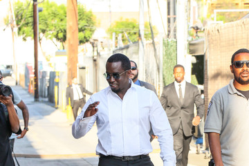 Sean Combs Sean Combs Arrives At 'Jimmy Kimmel Live'