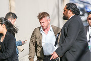 Sean Penn is seen arriving at 'Jimmy Kimmel Live' in Los Angeles, California.