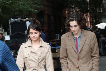 Selena Gomez Timothee Chalamet and Selena Gomez Are Seen on Set in NYC