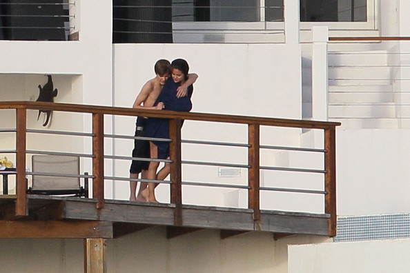 Selena Gomez Justin Bieber and Selena Gomez spend time together on vacation in the Caribbean,.