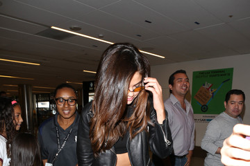 Selena Gomez Selena Gomez Is Seen at LAX