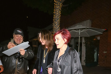 Sharon Osbourne Sharon Osbourne And Ozzy Osbourne Outside Billy Idol's Birthday Party At Mr Chows Restaurant