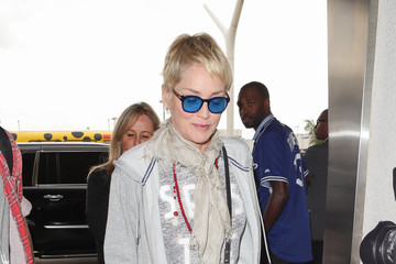 Sharon Stone Sharon Stone at LAX International Airport