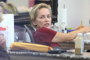 Sharon Stone and Her Pal Get Their Nails Done