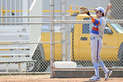 Charlie Sheen suits up in a baseball uniform to film scenes for Roman Coppala's 'A Glimpse Inside the Mind of Charles Swan III '  at a baseball diamond with Jason Schwartzman and Katheryn Winnick.