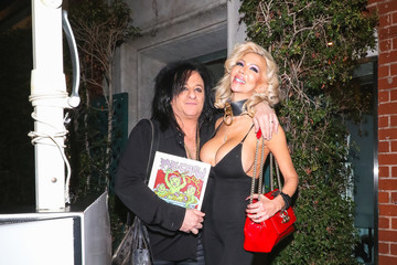 Steve Stevens Steve Stevens And Josie Stevens Outside Billy Idol's Birthday Party At Mr Chows Restaurant