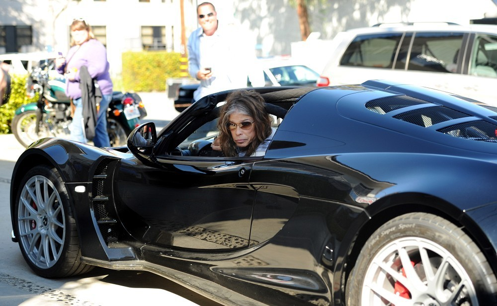 Joe Perry In Steven Tyler And His Supercar Arrive In