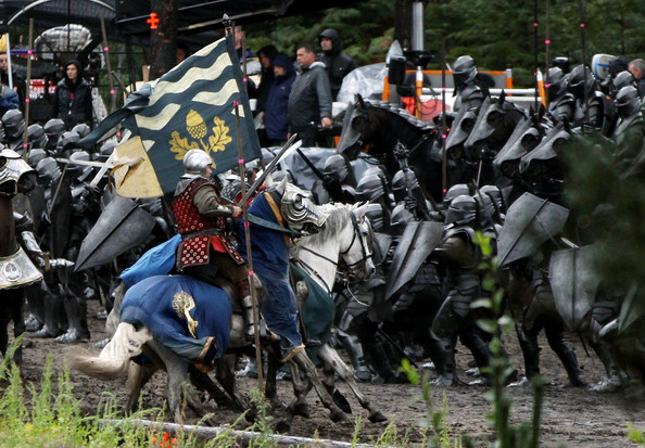 "Battle scenes are being filmed on location for the upcoming twist on a fairytale, ""Snow White and the Huntsman,"" which is due out in 2012. The film stars Kristen Stewart as the titular character, and Charlize Theron as the Evil Queen."