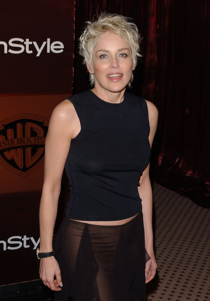 Sharon Stone Photos In Style Magazine Golden Globe Party