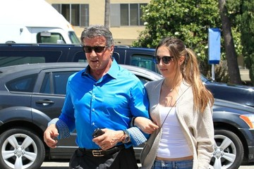 Sylvester Stallone Sophia Stallone Sylvester Stallone and Sophia Out and About