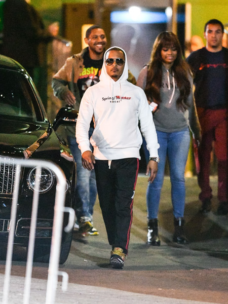 T.I. Outside Warwick Nightclub In Hollywood