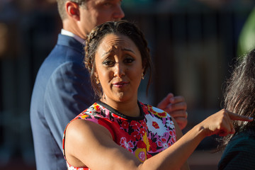 Tamera Mowry-Housley Candid Celebrity Arrivals at 'The Jungle Book' Premiere